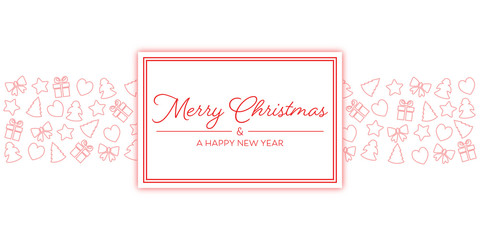 Merry Christmas - Grußkarte (Rot)