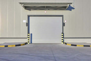 grey gate for factory and lines