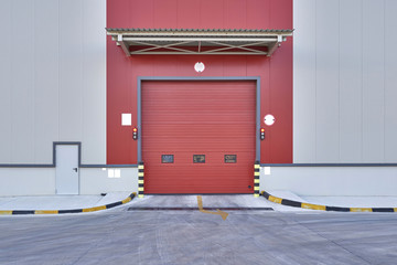 closed factory door style modern and decorative