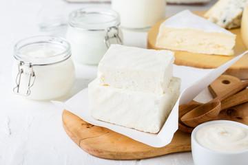 Fresh organic dairy products