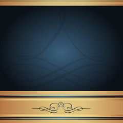 Background-Elegant Blue and Gold for Wedding or Corporate