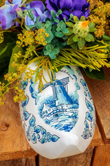 Dutch souvenir clog with painted windmill