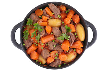 beef,carrot and pea