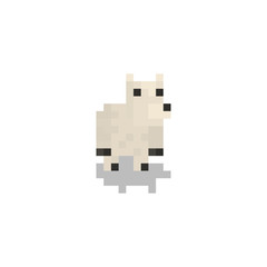 Pixel character polar bear for games and web sites