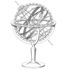 vector Armillary Sphere illustration