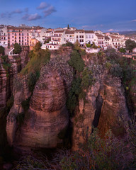 Fotomurales - Ronda Skyline in the Evening, Andalusia, Spain