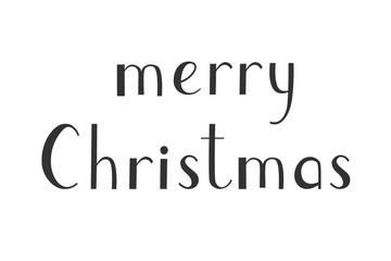 Merry Christmas vector from hand design lettering