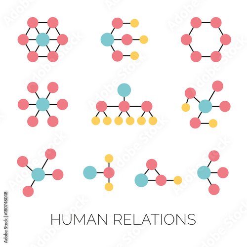 Human relations simple charts hierarchy connections organizations human relations simple charts hierarchy connections organizations diagrams vector illustrations ccuart Image collections