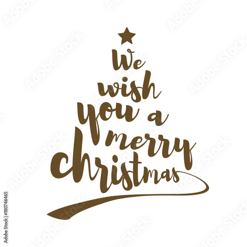 Quotes Christmas Glamorous We Wish You A Merry Christmas Quotecalligraphic Text Makes The