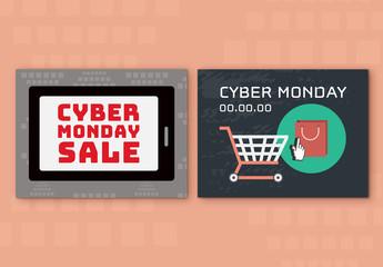 Cyber Monday Sale Social Media Post Set 11