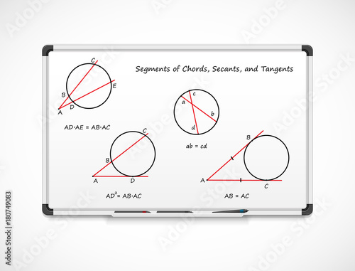 Geometry Segments Of Chords Secants And Tangents Mathematical
