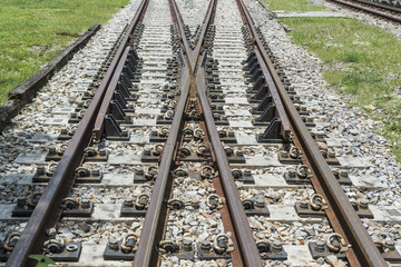 Old railroad tracks,Thai Railway,Train travel