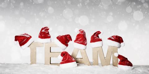 Team wünscht frohe weihnachten