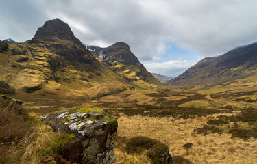 Great view on the Three Sisters in the Scottisch Highlands