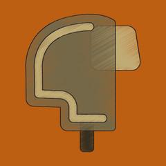 flat shading style icon Ski helmet