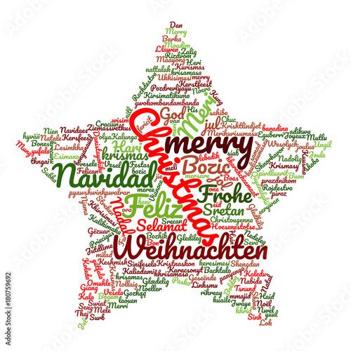 Frohe Weihnachten In Allen Sprachen.Frohe Weihnachten In Verschiedenen Sprachen Stockfotos Und