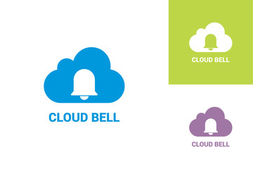 Cloud Bell Logo Template Design