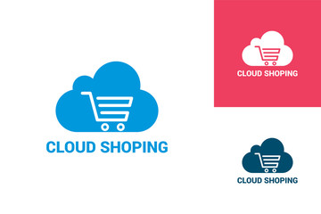 Cloud Shoping Logo Template Design