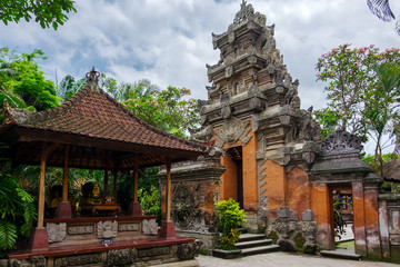 Foto op Canvas Indonesië Puri Saren Agung (Ubud Palace). Temple in Bali, Indonesia