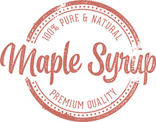 Pure Maple Syrup Vintage Stamp