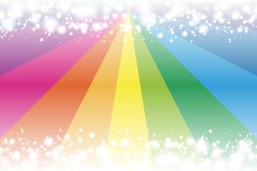 背景素材壁紙,氷,冬,雪景色,風景,積雪,冬景色,雪の結晶,放射,集中線,虹色,レインボー,カラフル