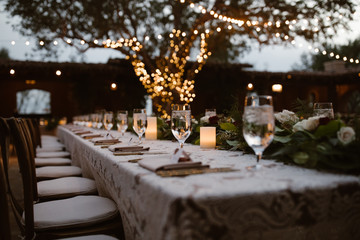 A Dreamy Outdoor Dinner Setting