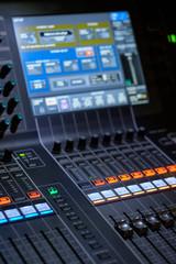 Professional audio sound mixer