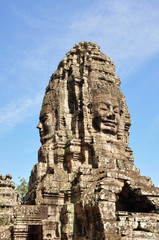 Face of Bayon temple in Angkor Thom