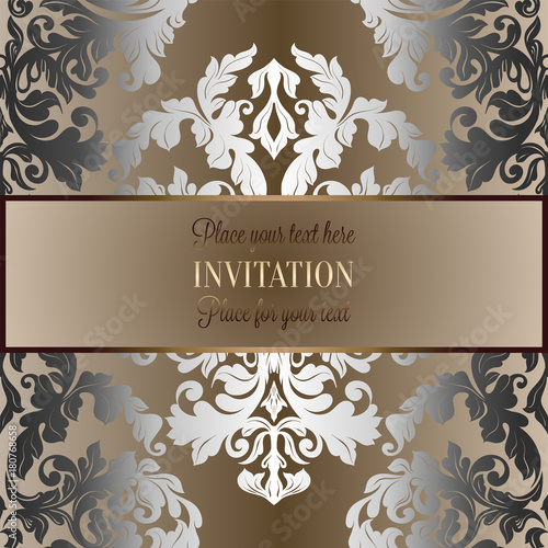 Baroque Background With Antique Luxury Silver And Gold