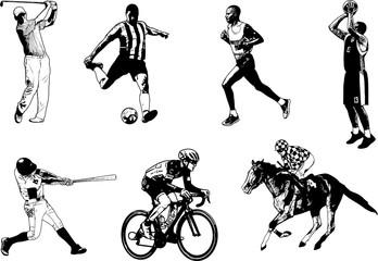 Various sports sketch illustration - vector