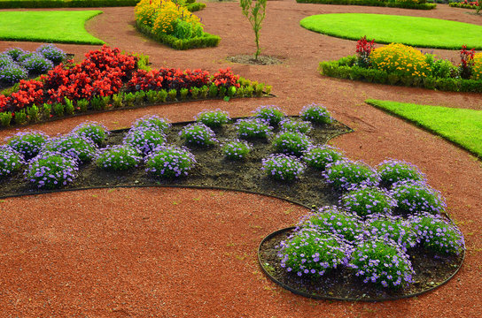 Beautiful landscaping in the park