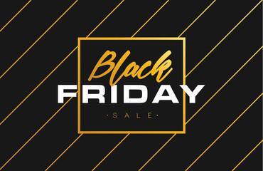 Black Friday Sale Gold Banner luxury Background. Advertising Golden Poster Template for black friday. Vector illustration