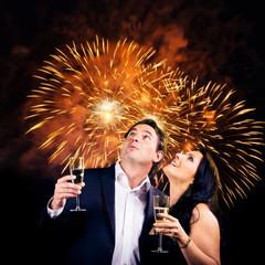 Couple Enjoying New Year's Eve