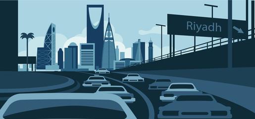 Wall Mural - Riyadh Saudi Arabia Skyline