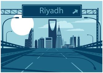 Fototapete - Riyadh Saudi Arabia Skyline