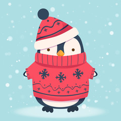 penguin cartoon illustration
