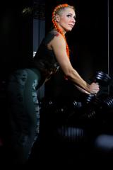 girl bodybuilder in the gym