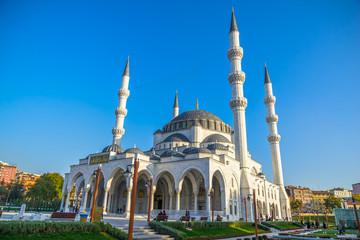 Melike Hatun Mosque view from Gençlik Park in Ankara,Turkey