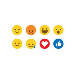 social media emoticon reactions