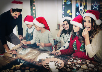 Merry christmas bakery family cookies