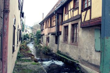 Ruelle aquatique en Alsace