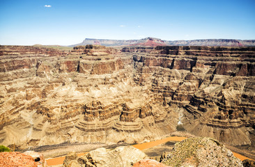 Grand Canyon West Rim  - Eagle Point, summer day, blue sky - Arizona, AZ, USA