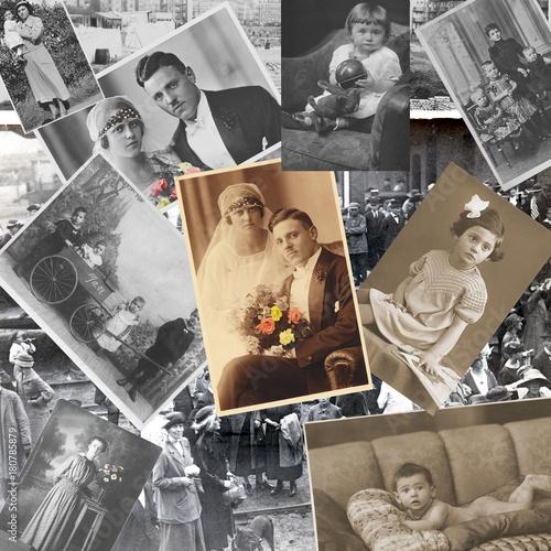 Fotos Als Collage : vergangenheit der letzten 100 jahre alte fotos als collage stockfotos und lizenzfreie bilder ~ Markanthonyermac.com Haus und Dekorationen
