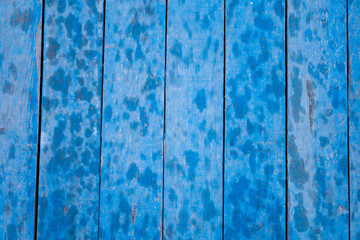 Weathered Wood Texture Painted in Blue Color