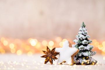 Christmas decor and greeting card. Symbol xmas.
