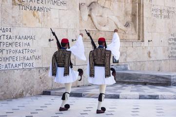 Relève de la garde à Athènes, Grèce