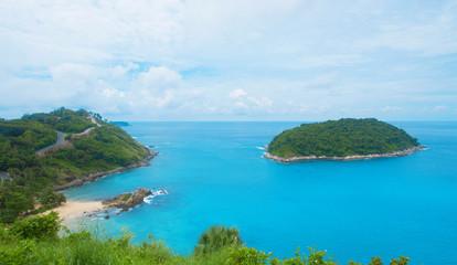 Landscape island and blue sea vacation summer beach