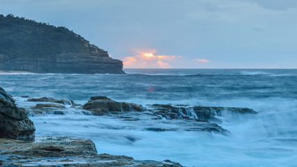 Overcast Daybreak Seascape