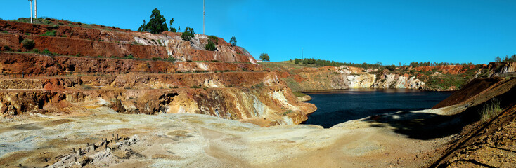 Panoramic view of Sao Domingos mine, in Portugal