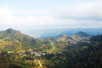 Mountain pass in Ha Giang, Vietnam